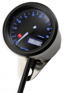 Daytona Velona Tachometer 48 mm, Stainless Steel Black Paint