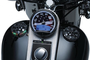 Alley Cat LED Fuel & Battery Gauge, Gloss Black