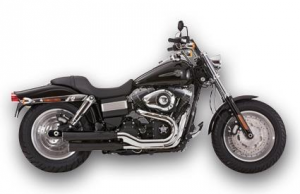 Falcon 2-2 Slip on Mufflers with ABE Black
