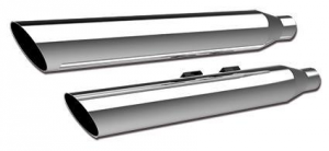 3 HP-Plus Slant Muffler, Chrome