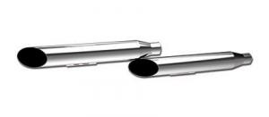3 HP-Plus Slant Long Muffler Chrome