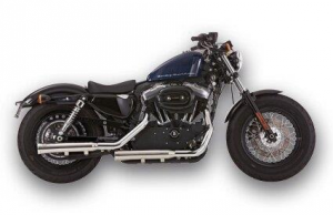 Falcon 2-2 Slip on Mufflers ABE , Polished Stainless Steel