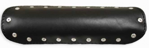 Universal Exhaust Heat Shield Black Leather 9, Solid