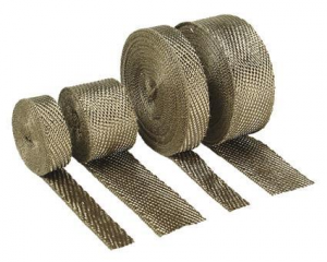2 x 25 Ft. Titanium Exhaust Wrap