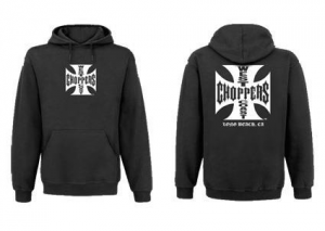 WCC Iron Cross Hoody, Solid Black