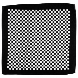 Bandana, Checkers Mandana, Black, White