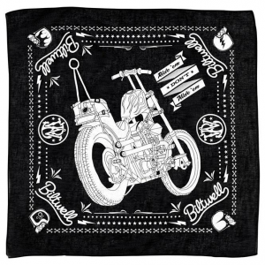 Bandana, Chopper Mandana, Black, White