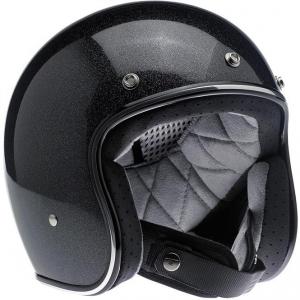 Biltwell Bonanza Helmet Midnight Black Miniflake