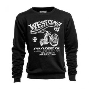 Felpa West Coast Choppers El Diablo Nero Bianco