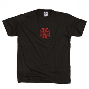 T-shirt West Coast Choppers Iron Original Cross Nero Rosso