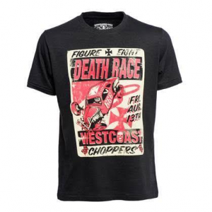 T-Shirt West Coast Choppers Death Races Tee Nero