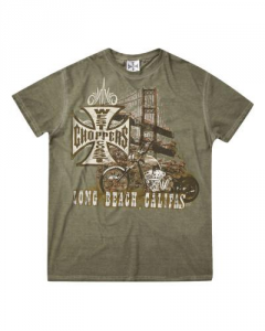 T-shirt West Coast Choppers Bridge Petrolio Verde