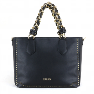 Borsa a mano e tracolla Liu Jo LOVELY U A18020 E0010 NERO + EDT 30ml spray
