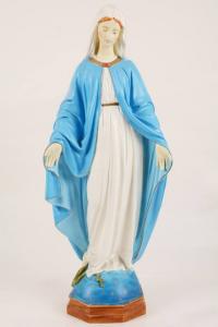 Statua Madonna Miracolosa in resina PISCAS8-65 h. 65