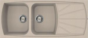 Lavello Granitek Serie Living 2 Vasche con Gocciolatore