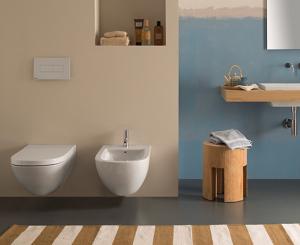 Vaso e bidet sospeso per il bagno cm 58 x 37 Stockholm Globo