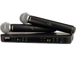 RADIO. SHURE BLX288EPG58 KIT RICEVITORE DOPPIO CH+2 TRASM.
