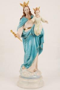 Statua Madonna Ausiliatrice in porcellana PING-MA65 h. 65