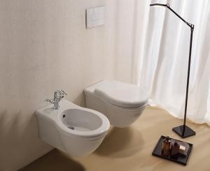 Vaso e bidet sospeso per il bagno cm 57 x 38 Paestum Globo