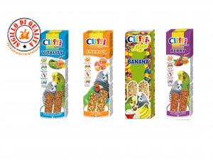 Alimento Stick per Pappagallini Cliffi Selection vari gusti