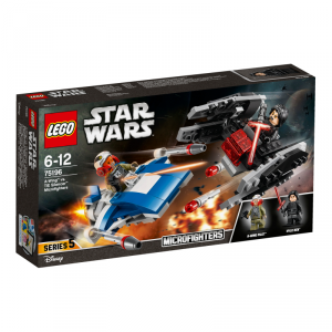 LEGO STAR WARS A-WING# VS MICROFIGHTER TIE SILENCER# 75196