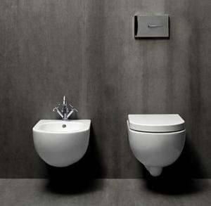 Vaso e bidet sospeso per il bagno cm 46 x 35 Mini Nuvola Azzurra