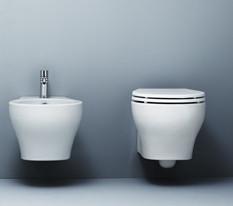 Vaso e bidet sospeso per il bagno cm 50 x 40 Vera Azzurra