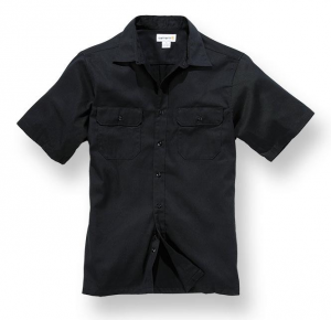 Twill S/S Work Shirt Black