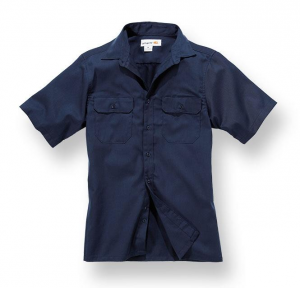 Twill S/S Work Shirt Navy