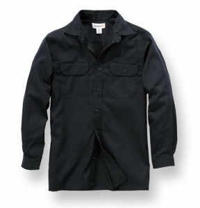 Twill L/S Work Shirt Black