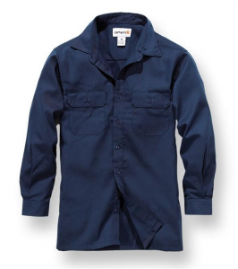 Twill L/S Work Shirt Navy