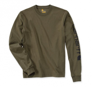 Sleeve Logo T-Shirt L/S Army Green