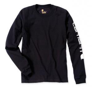 Sleeve Logo T-Shirt L/S Black
