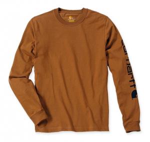 Sleeve Logo T-Shirt L/S Carhartt Brown