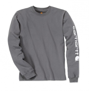 Sleeve Logo T-Shirt L/S Charcoal