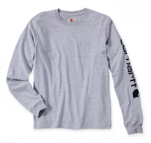 Sleeve Logo T-Shirt L/S Heather Grey
