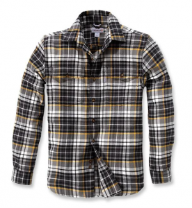 Slim Fit Flannel Shirt Shadow