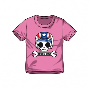 Bobby Bolt USA Helmet T-Shirt for Kids, pink