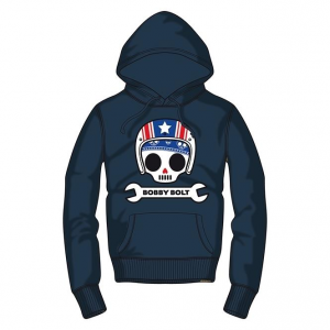 Bobby Bolt Hooded Sweatshirt for Kids, navy