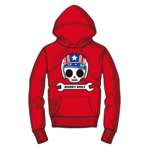 Bobby Bolt Hooded Sweatshirt for Kids, red