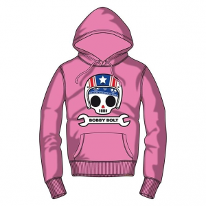 Bobby Bolt Hooded Sweatshirt for Kids, pink