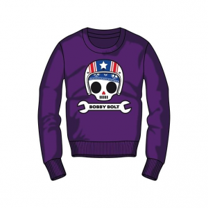Bobby Bolt Roundneck Sweatshirt for Kids, purple