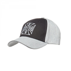 Cappellino West Coast Choppers OG Cross Grigio Nero