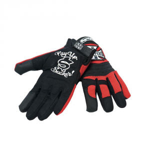 Guanti moto West Coast Choppers WCC Riding gloves Nero Rosso