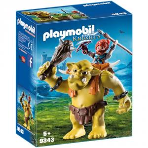 PLAYMOBIL GUERRIERO CON TROLL GIGANTE 9343