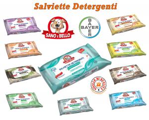 Salviette Detergenti Sano e Bello Bayer Varie profumazioni 50 Pz