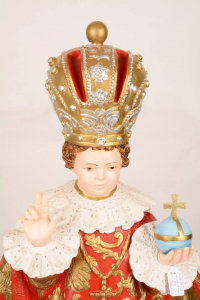 Statua Bambino Gesù di Praga in resina h. 70