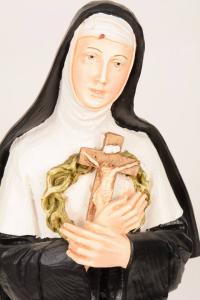 Statua Santa Rita in resina PASQ901C h. 50