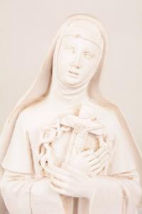 Statua Santa Rita in resina PASQ901B h. 50