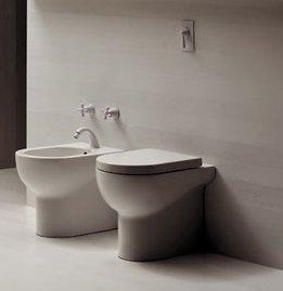 Vaso e bidet a terra per il bagno cm 46 x 35 Mini Nuvola Azzurra
